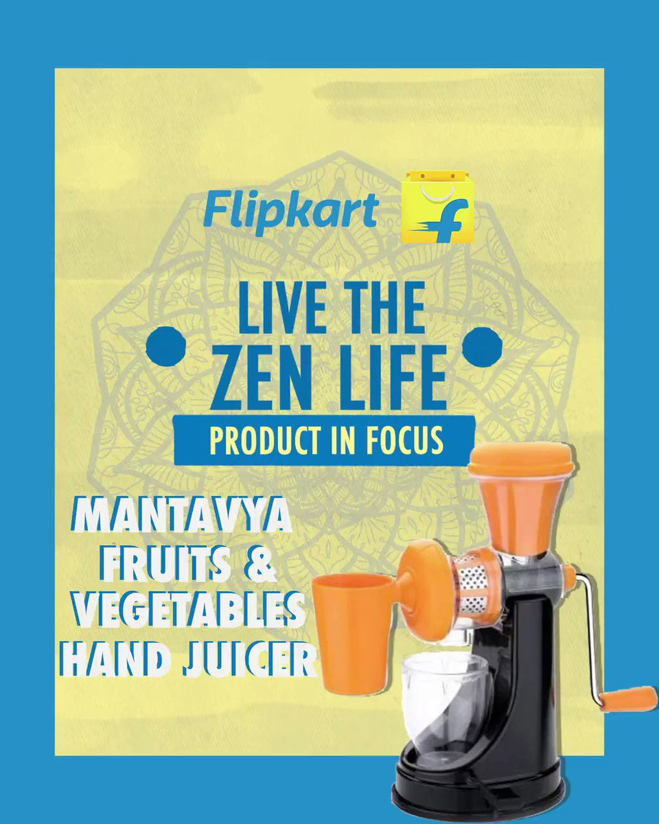 A device that will not only make your life easy but will also help in keeping you on that 2021 health grind. Introducing the Mantavya hand juicer! Get yours at Rs.429/- only on Flipkart and Live The Zen Life.