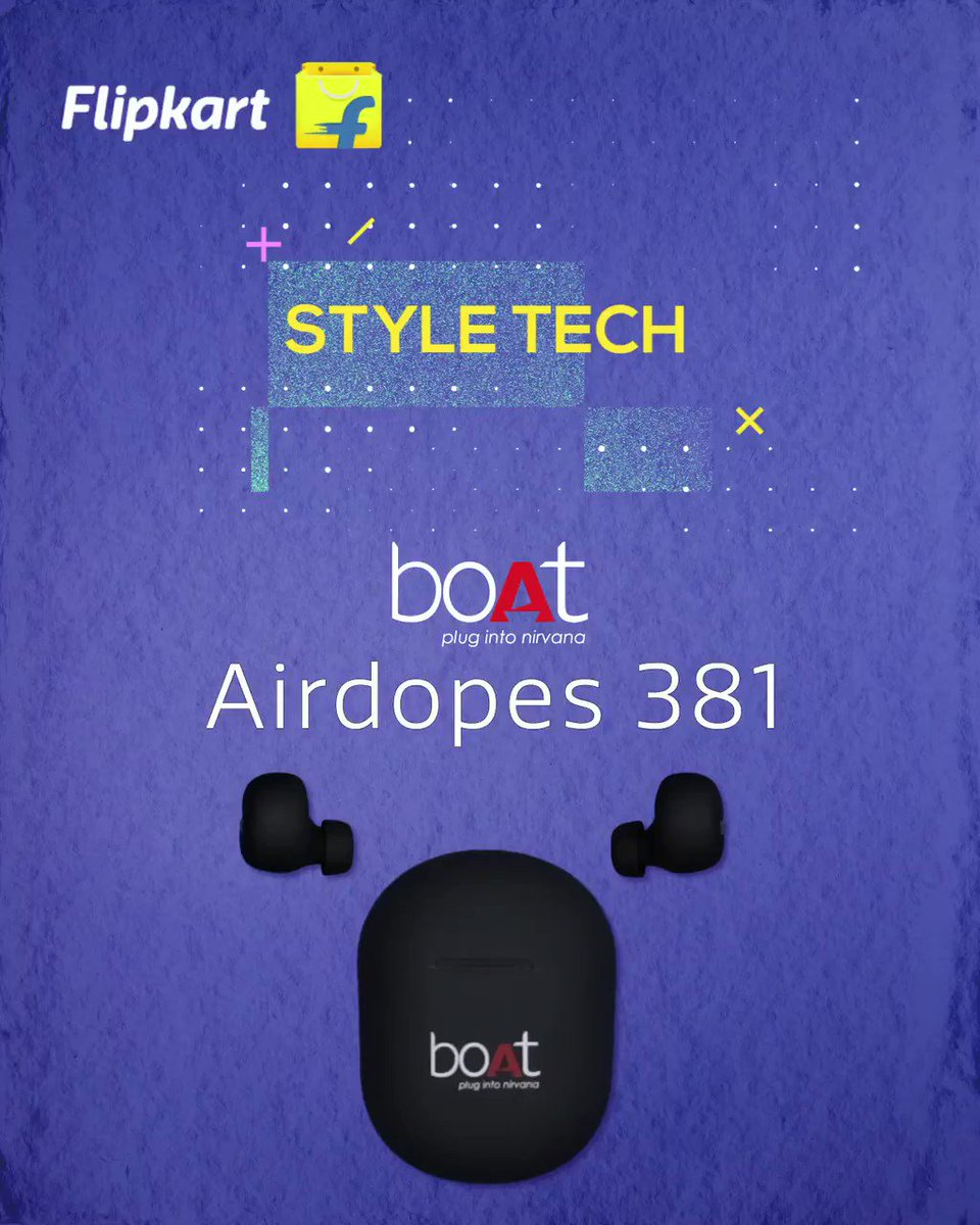 Plug into boAt Airdopes 381 and surround yourself with a whole new world of music! Just connect and let your style speak for itself!