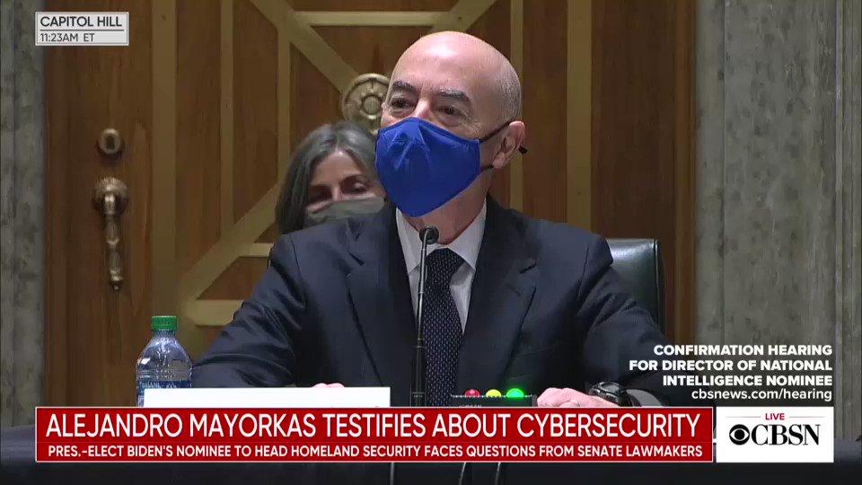 @CBSNews's photo on Alejandro Mayorkas