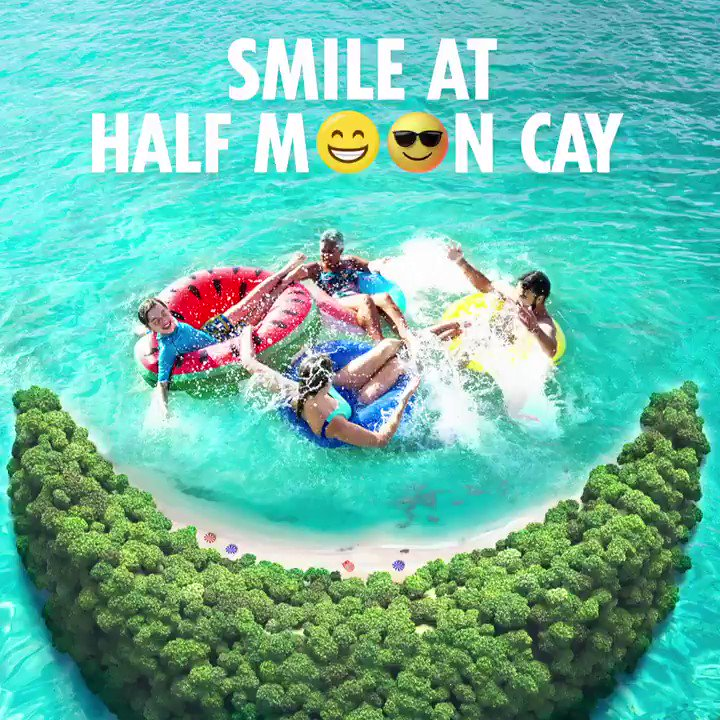 Giving you a reason to smile today 😄 HALF MOON CAY! Browse sailings to this private island destination here:  #ChooseFun