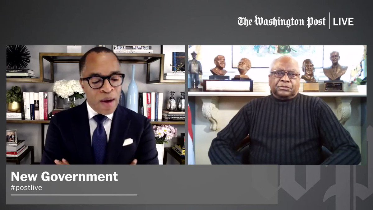 """.@WhipClyburn talks about the significance of Kamala Harris becoming the next Vice President of the United States. """"It means so much as the father of 3 Black women."""" #postlive"""