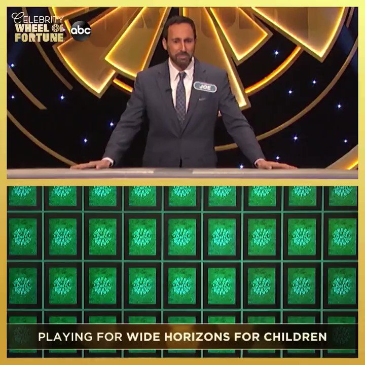 Rounding out this week's amazing celebrity contestants is @HoleyMoleyABC's @JoeTessESPN! He plays for @WHFChildren on #CelebrityWheelOfFortune THURSDAY on ABC.