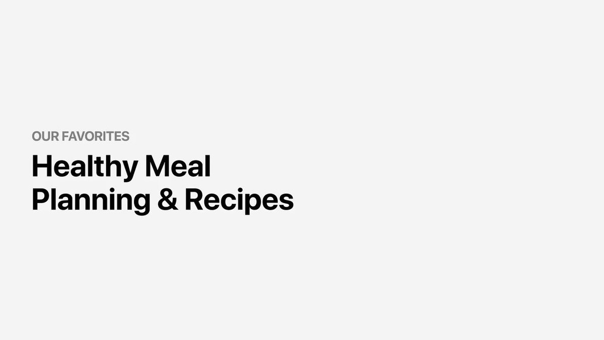 Good health starts from the inside, out 🍽.  Try this collection of helpful apps that provide healthy eating options through meal planning and recipes: