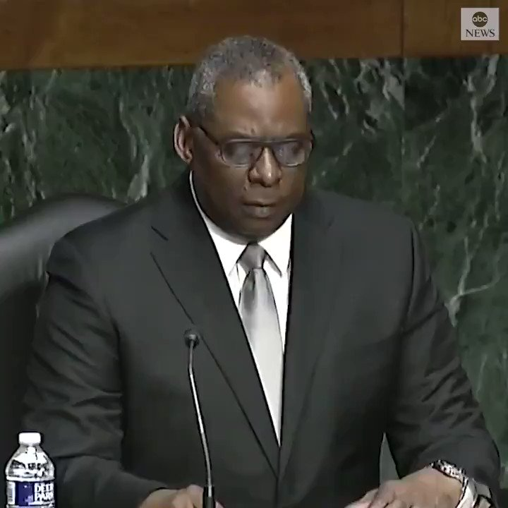 """At confirmation hearing, Sec. of Defense nominee Gen. Lloyd Austin says that if confirmed, he """"will work hard to stamp out sexual assault  and to rid our ranks of racists and extremists."""""""