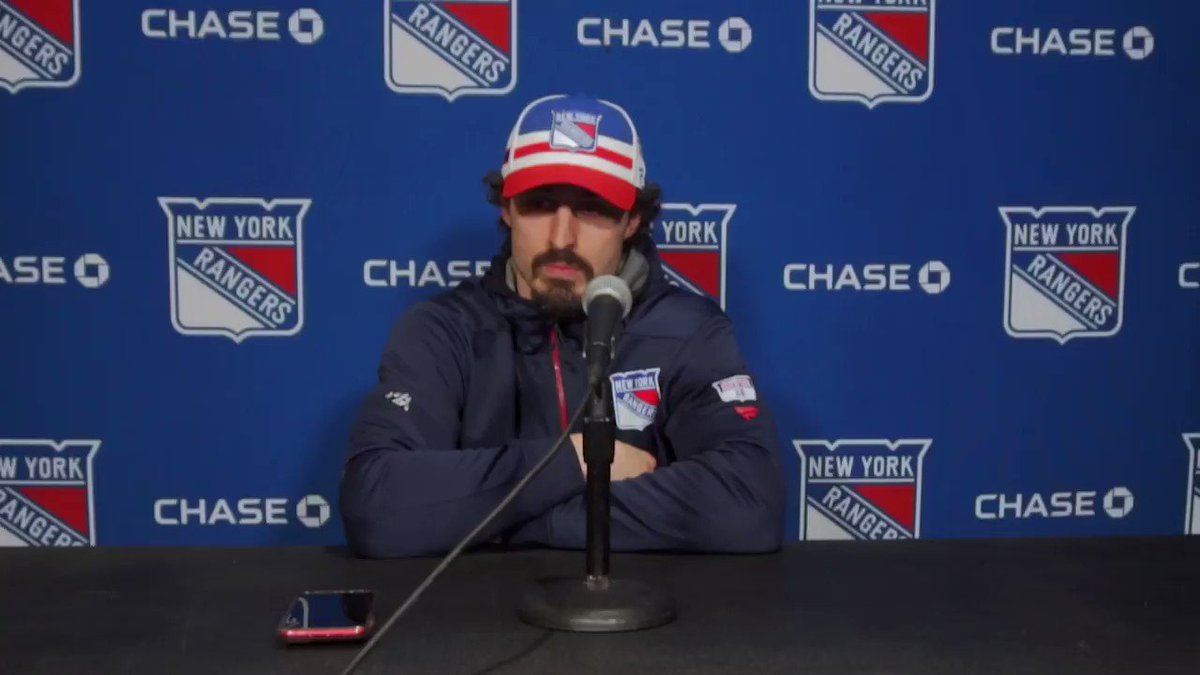 """Kreider: """"We're going to continue to learn and grow and I'm sure there's going to be moments of adversity, but we've got to find a way to get points, especially in a game like that tonight."""""""