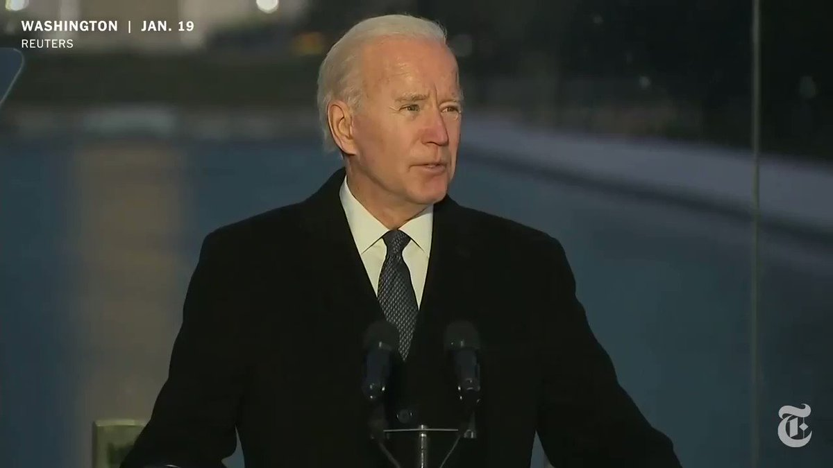 On the eve of his inauguration, President-elect Joe Biden led a national mourning for the 400,000 Americans who have died from the coronavirus. nyti.ms/3sHunh5