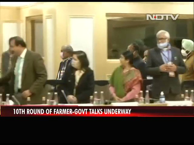 #FarmersProtest | 10th round of farmer-government talks underway