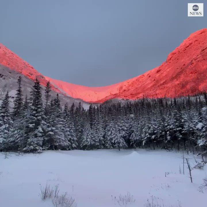 EPIC SUNRISE: Mount Washington in New Hampshire is bathed in a beautiful light at sunrise.