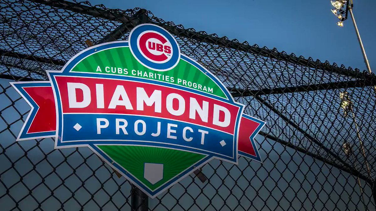 #CubsCharities today announced the 2020 Diamond Project grant recipients, awarding more than $950K to support 17 capital improvement projects across Chicago.  Learn more about the Diamond Project's impact throughout the city and apply for grants at https://t.co/orVryLXLJv.