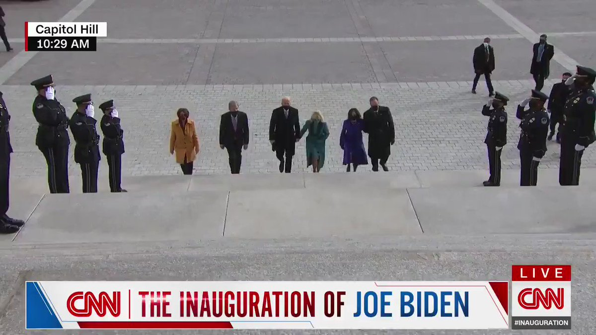 President-elect Joe Biden and Vice President-elect Kamala Harris have arrived at the US Capitol for the inauguration
