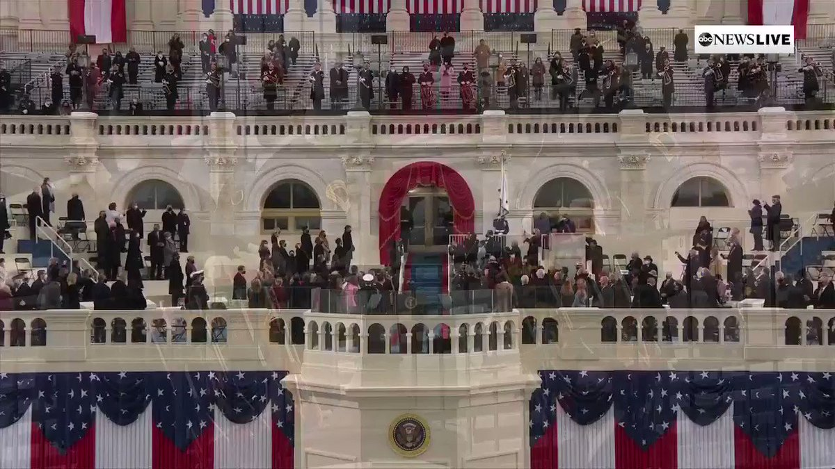 BREAKING: Vice President-elect Kamala Harris and future second gentleman Douglas Emhoff arrive to take their seats at the U.S Capitol for inauguration.   #InaugurationDay