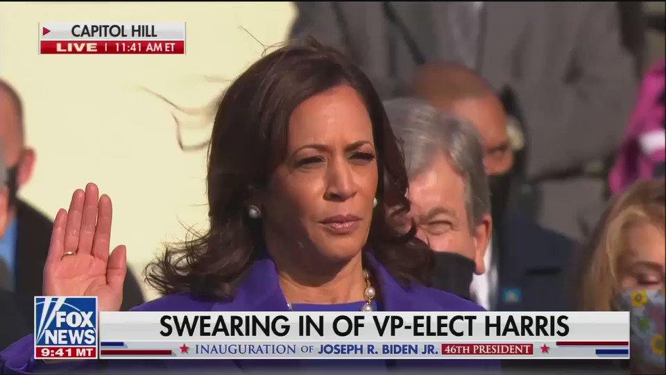 Replying to @axios: BREAKING: Kamala Harris is sworn in as vice president