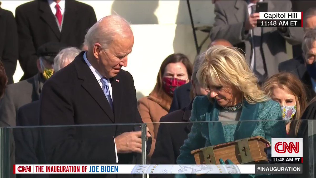 Replying to @CNN: BREAKING: Joe Biden is sworn in as the 46th president of the United States