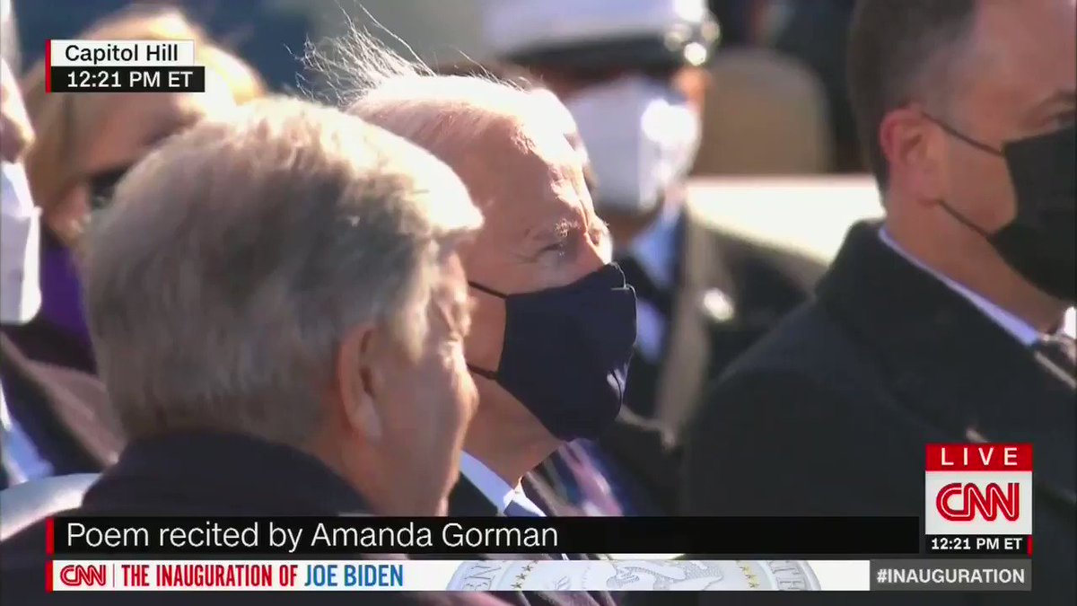 """Amanda Gorman, 22 years old:   """"Being American is more than a pride we inherit. It's the past we step into and how we repair it."""""""