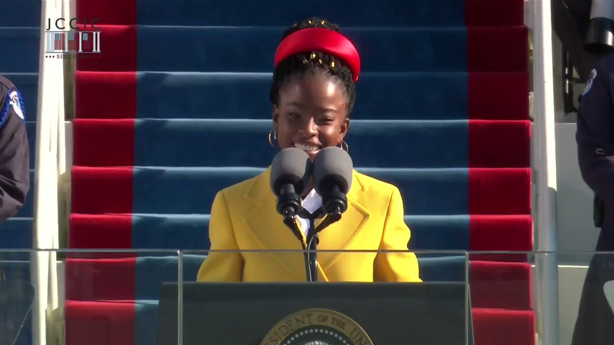 """ICYMI: Our inaugural poet @TheAmandaGorman delivered her powerful and inspiring poem """"The Hill We Climb"""" during yesterday's #InaugurationDay.  We are still speechless."""