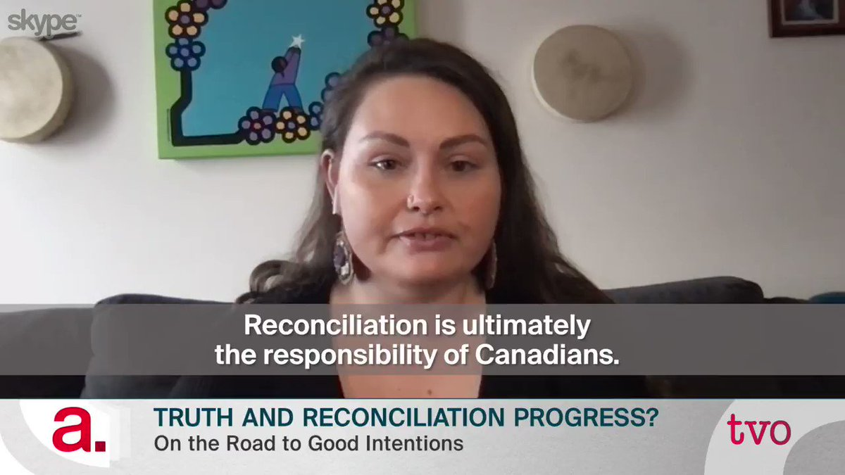 It is not up to Indigenous people to repair the harms that Canadians have done to Indigenous peoples. — @GabrielleFayant (@A7G_Official). At 8/11pm with Grand Chief Serge Simon (@mohawkcouncil), @pam_palmater, Clayton Shirt (@wbiih_) & @spaikin | Producer @LianeKotler #cdnpoli