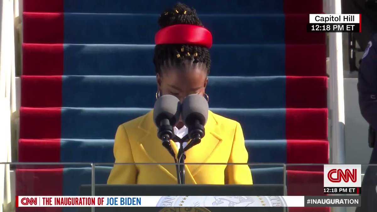 """Amanda Gorman, the nation's first-ever youth poet laureate, called for Americans to """"leave behind a country better than the one we were left"""" and unify together as she spoke at President Joe Biden's inauguration."""