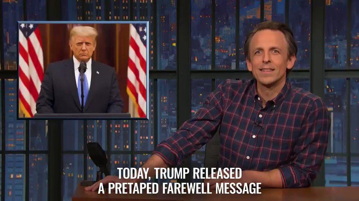 Here's @SethMeyers deep dive on Trump's farewell speech. #ACloserLook