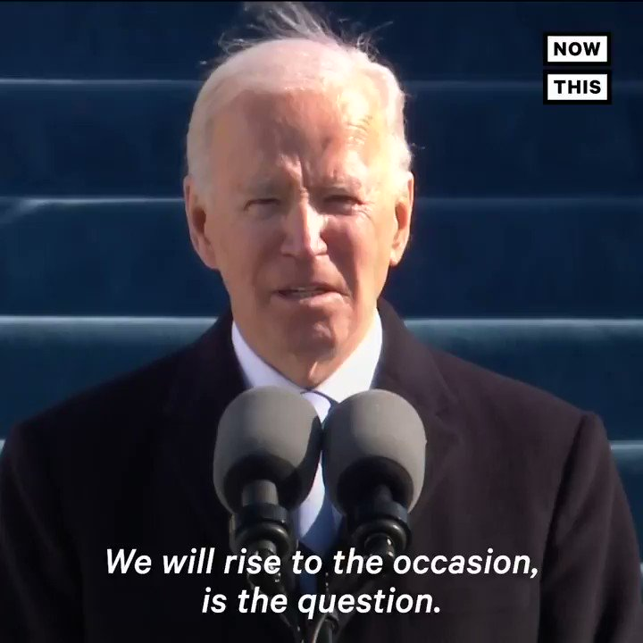 'We'll write the next great chapter in the history of the United States of America, the American story' — Listen to President Biden's closing message after being inaugurated the 46th President of the United States of America