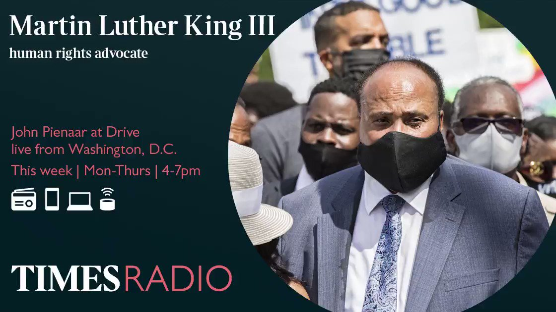 The real world does begin now. Martin Luther King III says he has not seen leadership in the US for 4 years, and choosing a black woman as Vice President is a significant action towards diversity. app.times.radio/listen @JPonpolitics | @OfficialMLK3