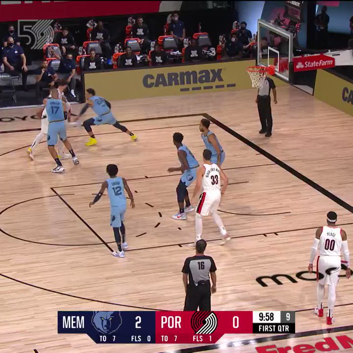 In place of highlights from tonight's postponed game, let's look back at our Game 1 bubble victory vs the Grizz.  @mcdonalds | #RipCity