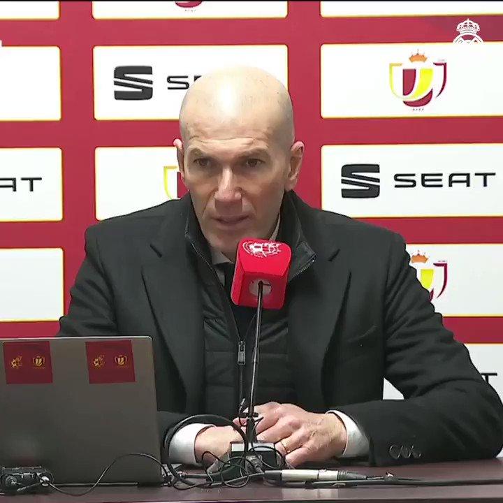 """👔🎙️ Zidane: """"Los jugadores lo han dado todo en el campo. Hemos tenido ocasiones para meter el segundo gol y cuando no lo metes, puede pasar lo que nos ha pasado."""" #RMCopa"""