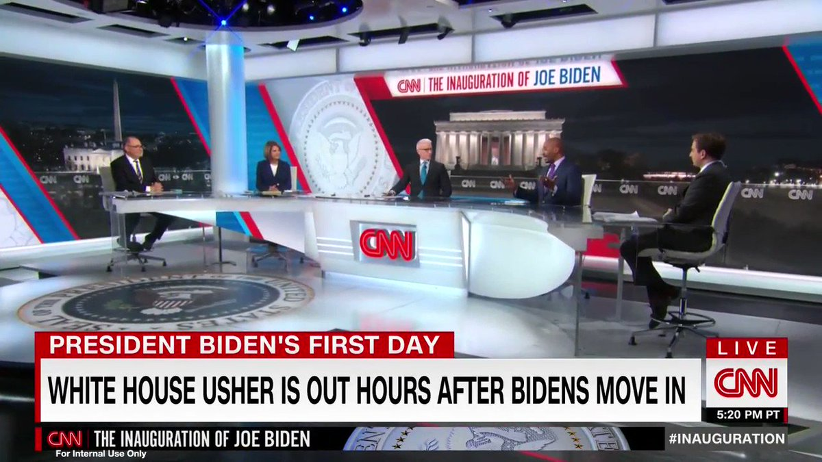 Is it mesmerizing to just watch a functional government doing functional government-type things? Or is that just me?  I mean... there was a PRESS CONFERENCE! With a HUMAN! And the human said WORDS! And the words MADE SENSE! And Biden told people to BE NICE! We are blessed.