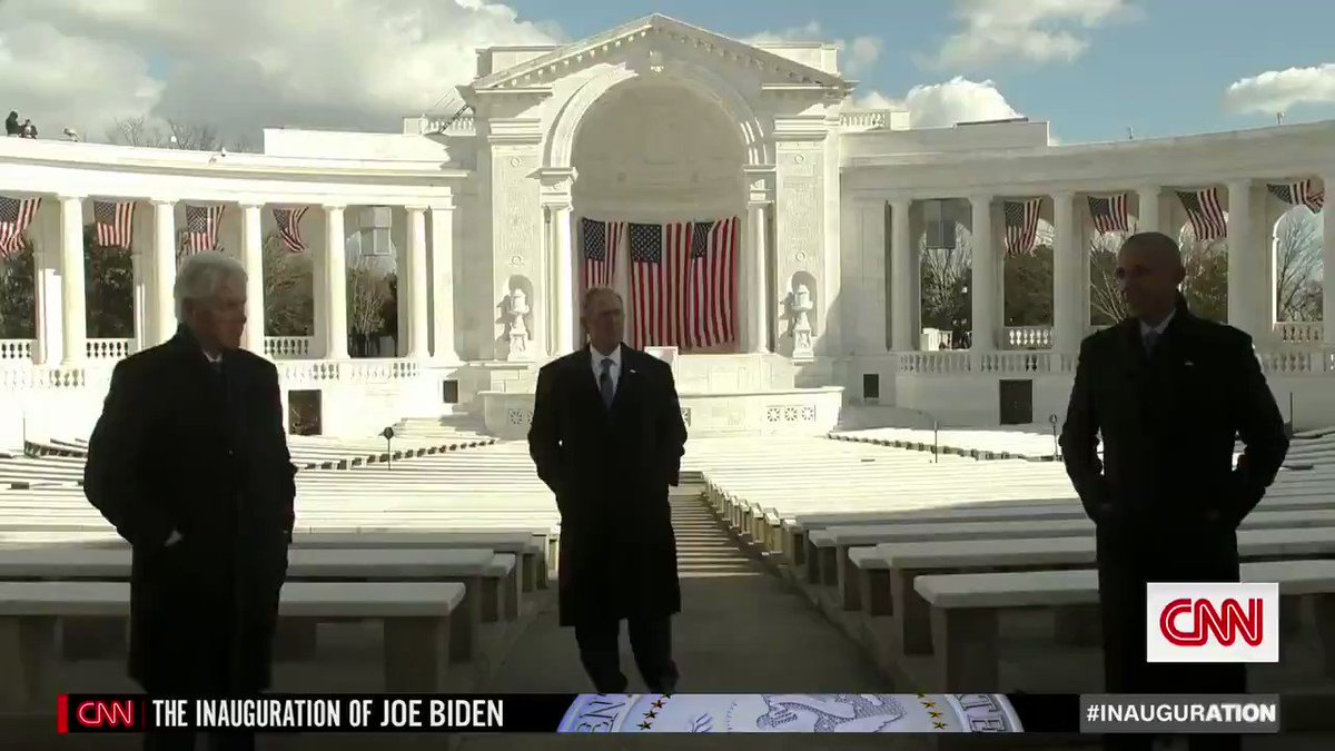 Former Presidents Barack Obama, George W. Bush and Bill Clinton taped a message of unity in honor of Joe Biden's inauguration