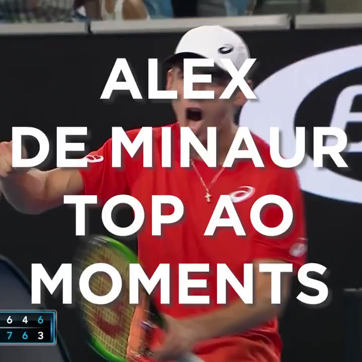 First Grand Slam win ➡️ driver's license.   These are @alexdeminaur's top moments at the @australianopen 😈 👉  #GoAussies https://t.co/HrTGTkYB3i