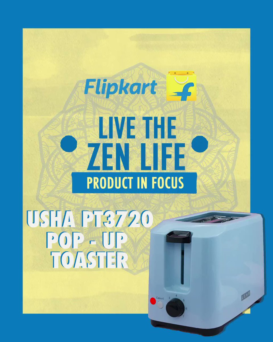 Introducing the Usha PT3720 700 w Pop up Toaster that gives the perfect toast every single time! Get yours at Rs.1325/- only on Flipkart and Live The Zen Life.