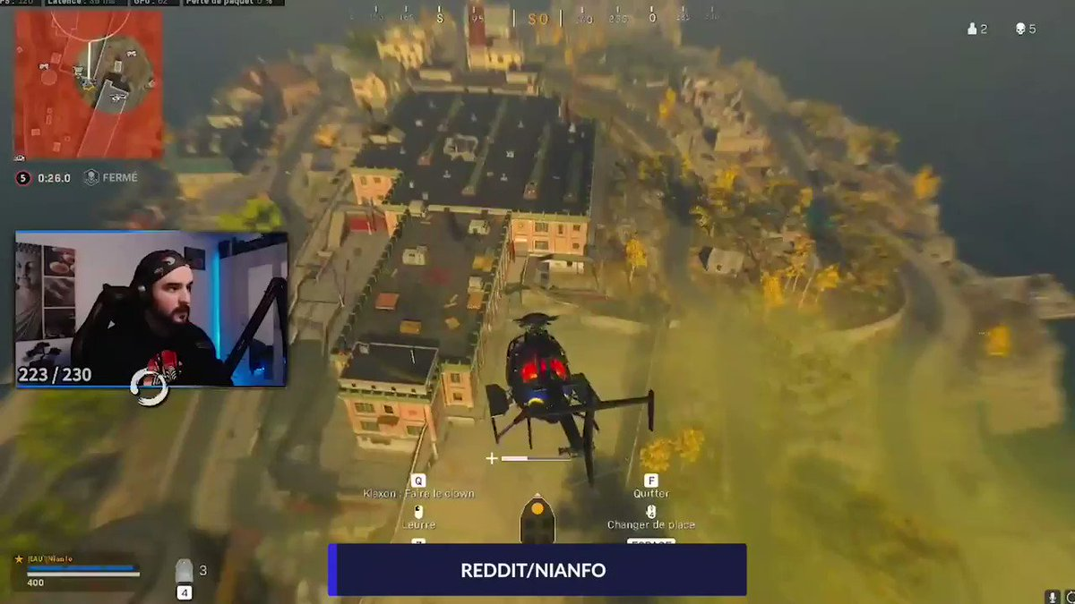 Punctuating the win with the kar from a chopper.