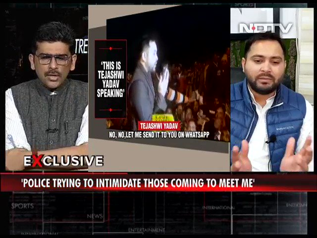 "#TrendingTonight | ""Rupesh Singh was murdered brutally 2kms away from the CM House and there's no arrest yet"": @yadavtejashwi, Leader of Opposition, Bihar  #NDTVExclusive"