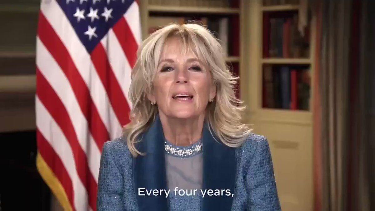 First Lady Jill Biden tweeted a video from the @FLOTUS account thanking the people who helped put on the inauguration https://t.co/oHMCOH1ndK