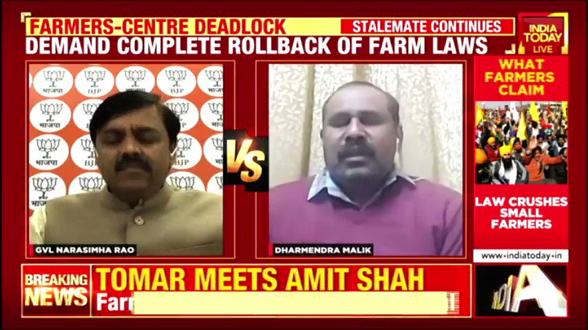 #FarmersProtest   Agriculture minister @nstomar meets Home Minister @AmitShah hours after farmers reject the offer. #IndiaFirst