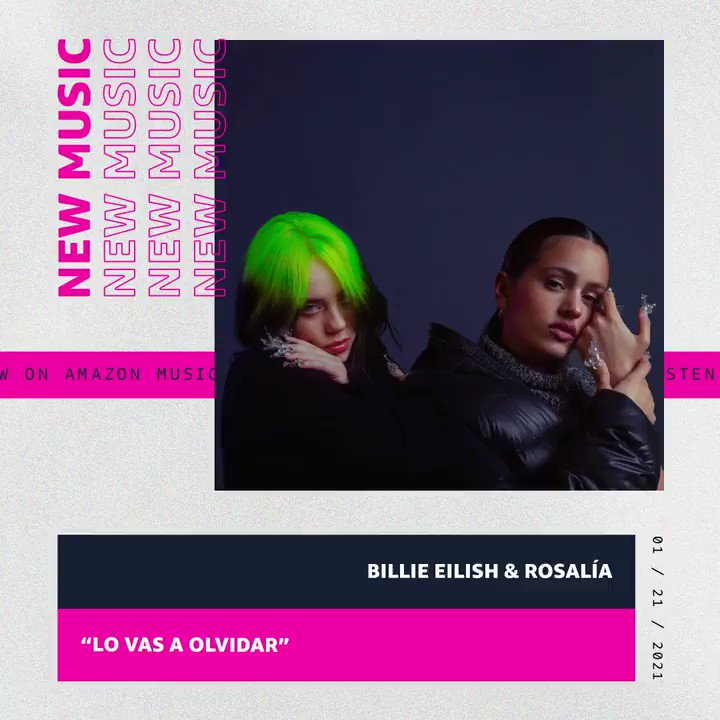 "You guys have been waiting for this one (and so have we... 😉). @billieeilish links with @rosalia for new song ""Lo Vas a Olvidar (You Will Forget It)"". Listen now on Amazon Music 🎧:"