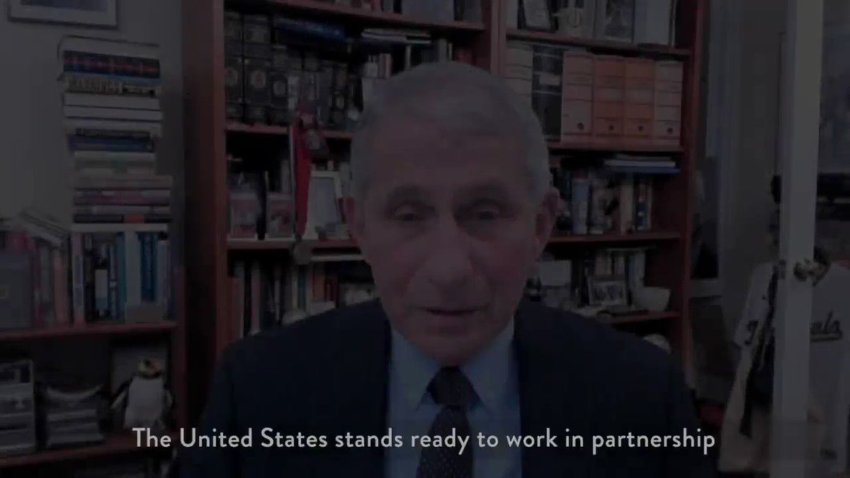 Welcome back, America!    Earlier today, Dr. Fauci joined @WHO's Executive Board meeting to announce that the U.S. will remain a member of the Organization and stands ready to work together to help the world recover from COVID-19 and achieve #HealthforAll. #EB148   Watch ⤵