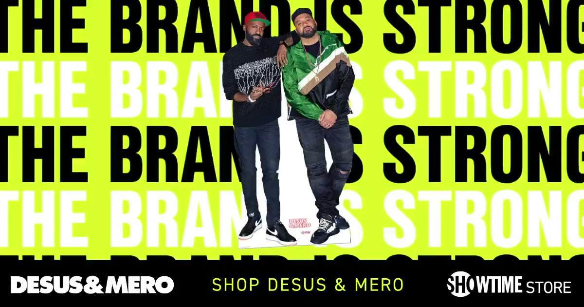 Hit the @Showtime store and gear up for Season 3 of #DESUSandMERO.   Shop now: