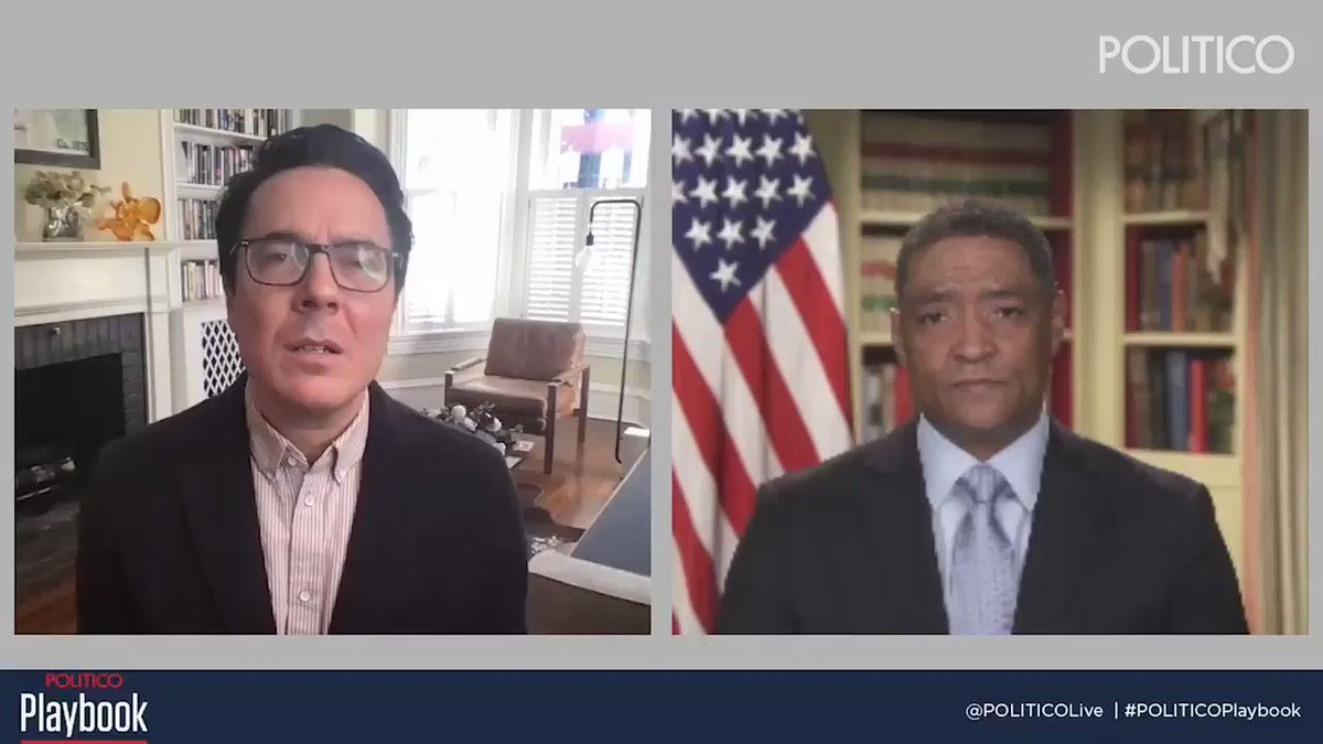 """""""There has to be consequences and repercussions for leading an insurrection in this country,"""" said Cedric Richmond, senior adviser to the president.  Richmond said his last vote as a Congressman was to impeach former President Donald Trump.  https://t.co/4IHW3Zfuyg https://t.co/TM5kzjLqIY"""