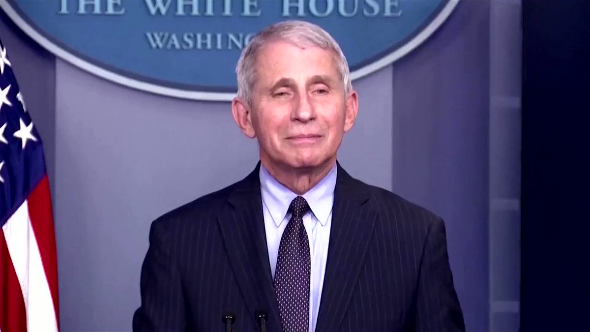 In his first White House briefing in the Biden administration, Dr. Anthony Fauci said he took 'no pleasure' in contradicting former President Trump