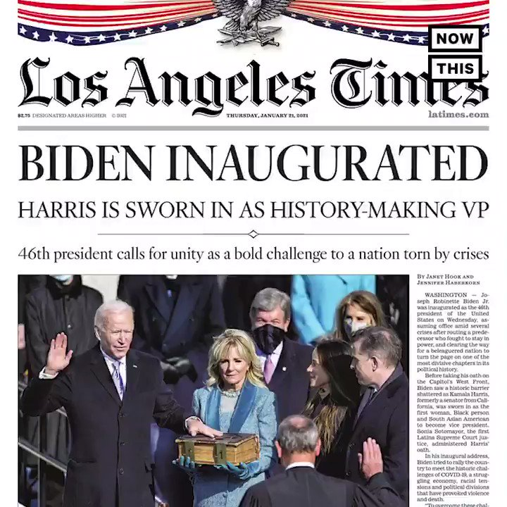 'DON LET THE DOOR HIT YOU ON THE WAY OUT' — Here's how newspapers around the world commemorated the inauguration of President Joseph R. Biden