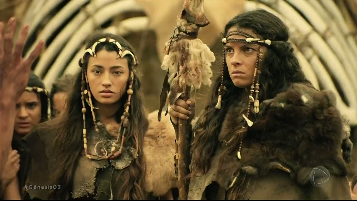 Replying to @NovelaGenesis: Caim negocia para ficar com as irmãs, mas Renah diz que não aceitará ordem dele #Gênesis03