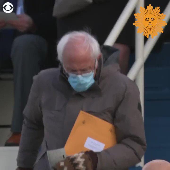 Senator Bernie Sanders' inauguration day mittens have become an internet sensation. Meet the Vermont schoolteacher who made them