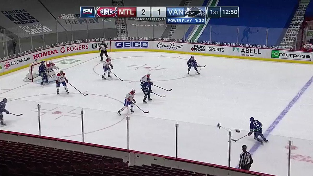 We swear we've seen Bo Horvat score a goal like this... almost like it was just last night. 🤔   #NHLonSN #ItsOn