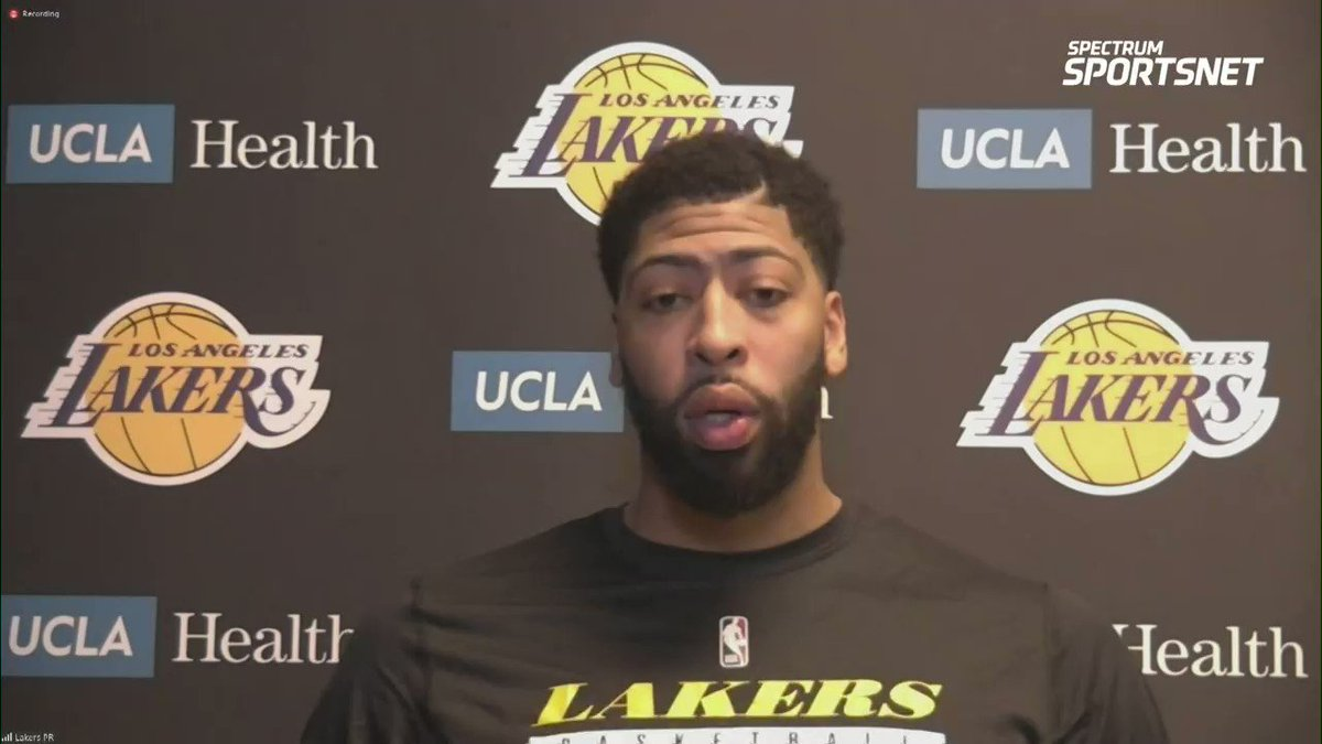"""""""Our motivation was to not lose two in a row and we were able to do that."""" - @AntDavis23   @SpectrumSN 