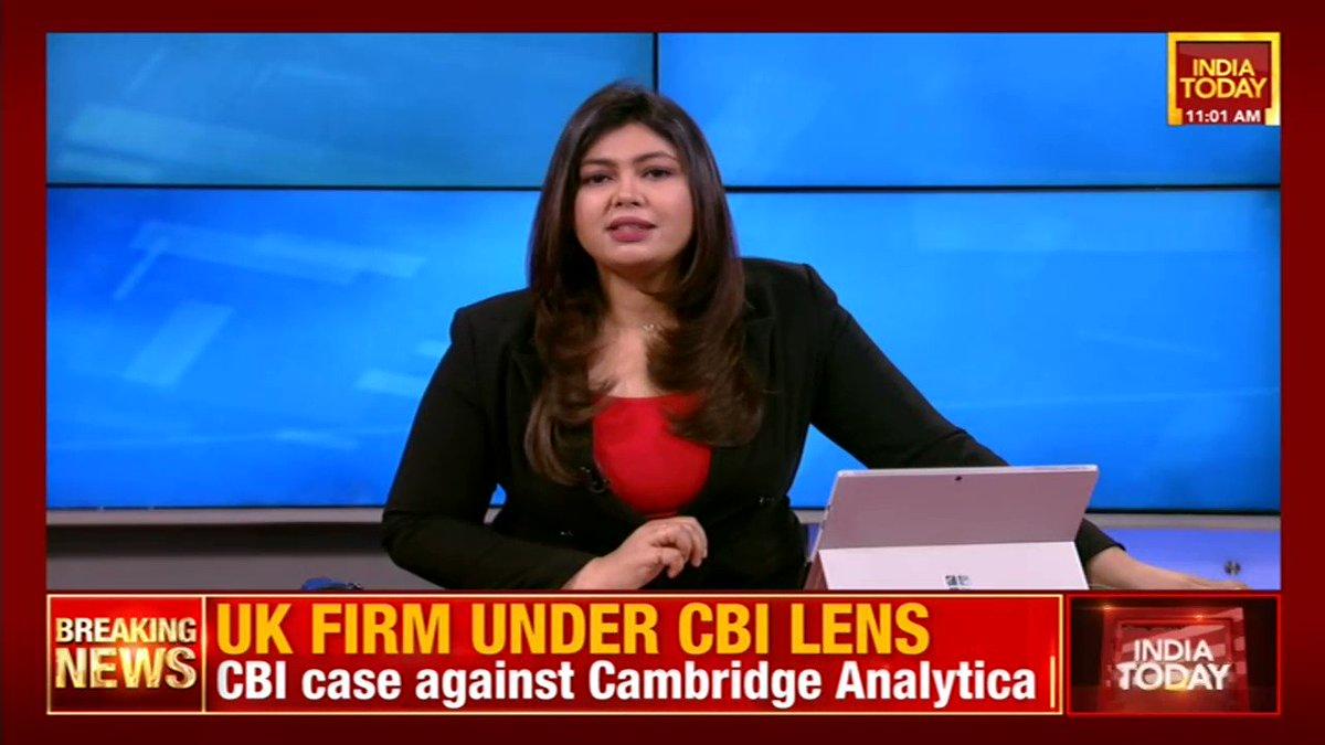 #Breaking| CBI has registered a case against UK-based #CambridgeAnalytica for illegally harvesting personal data from #Facebook. | @nabilajamal_, @MunishPandeyy #CBI #datatheft #ITVideo