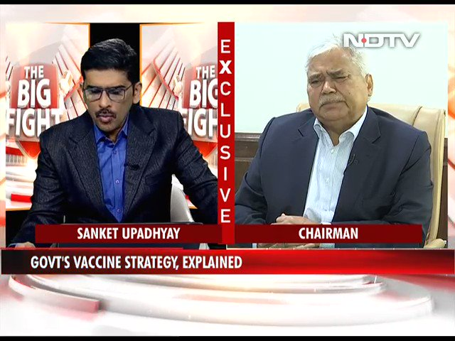 "#TheBigFight | ""CoWIN application is going to be the backbone of the vaccination drive"": Dr RS Sharma, Empowered Group, Vaccination   #CovidVaccine #NDTVExclusive"