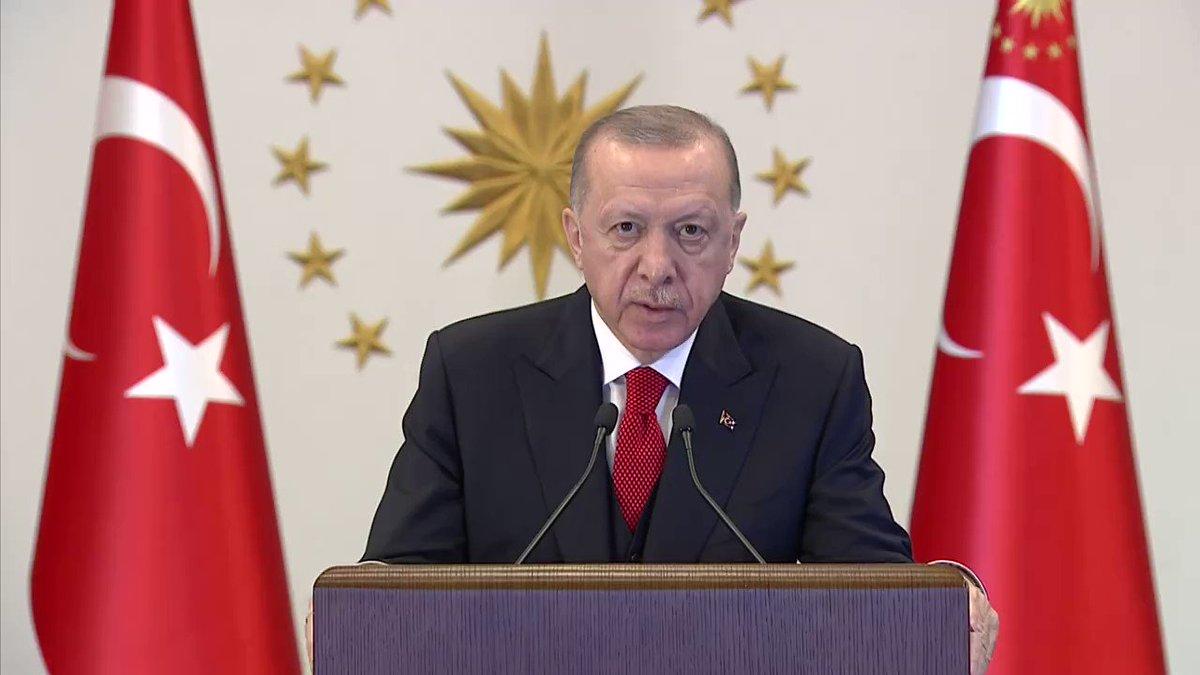 Cumhurbaşkanı Erdoğan'ın, İktisadi İşbirliği ve Kalkınma Teşkilatı (OECD) İstanbul Merkezi açılış programına gönderdiği video mesajı