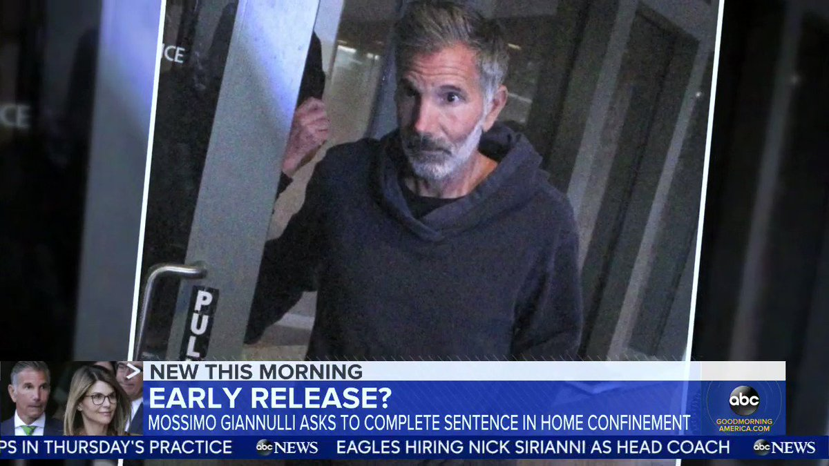 Lawyers for Lori Loughlin's husband, Mossimo Giannulli, are asking for him to be released from prison and sent to house arrest after spending nearly half of his 5-month sentence in isolation due to COVID-19 protocols.   @KayleeHartung has more.