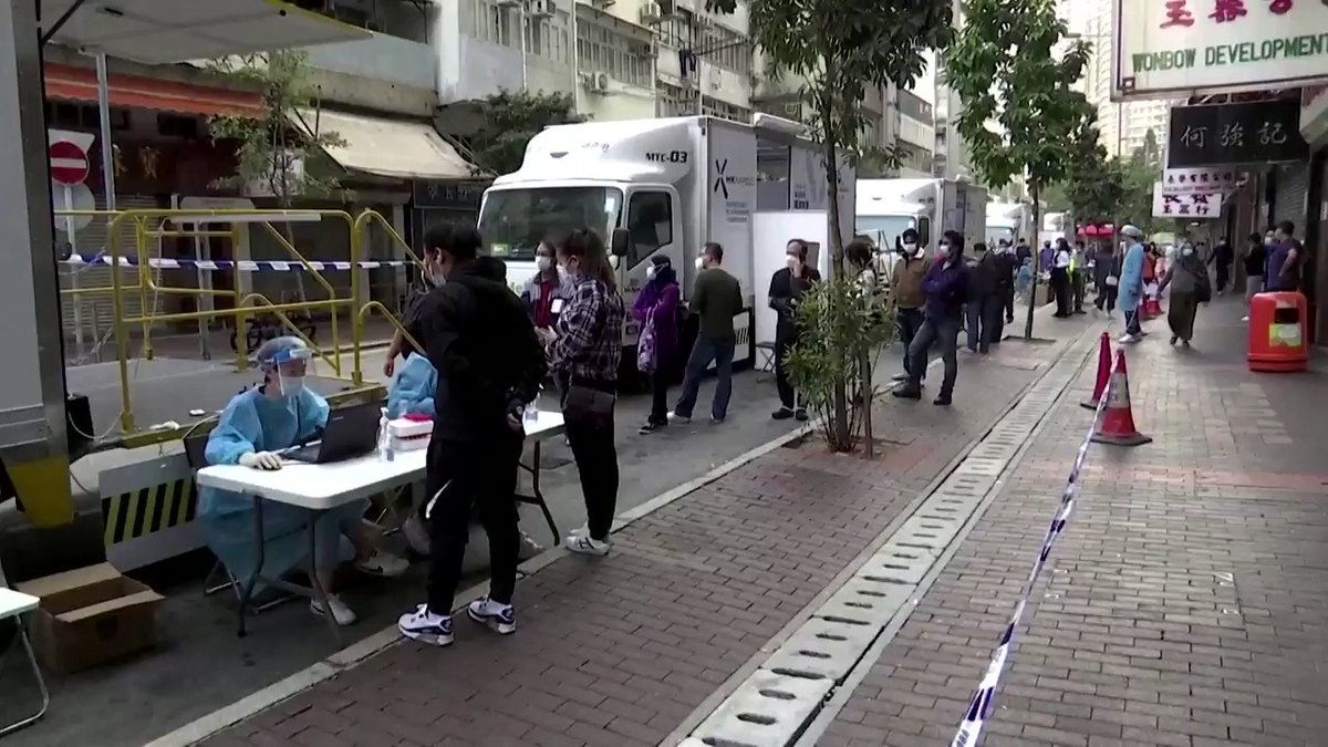 Hong Kong will place tens of thousands of its residents in a lockdown to contain a new outbreak of the coronavirus, according to a media report https://t.co/QD13ZctlDY https://t.co/SB0B5nuC8v