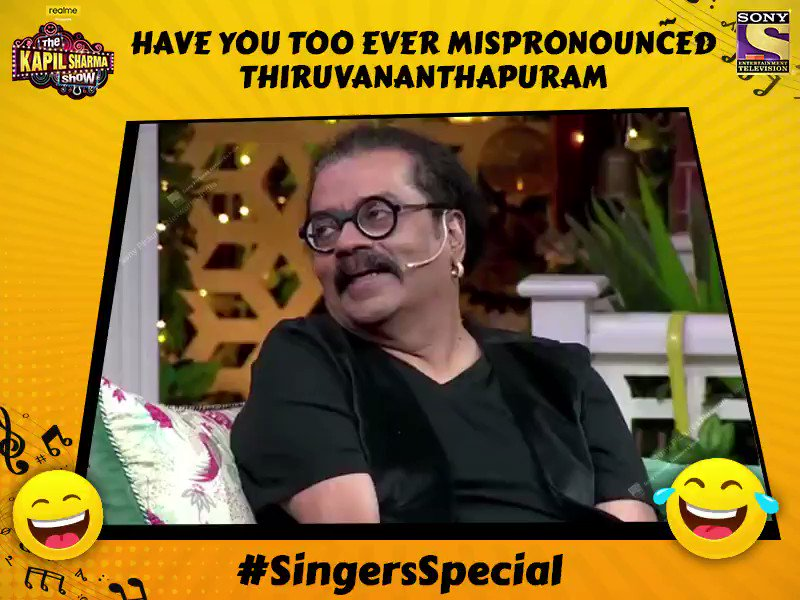 If you or your friend have also faced the same problem while pronouncing Thiruvananthapuram, let us know in the comments section and meet Hariharan, Anup Jalota aur Pankaj Udhas only on #TheKapilSharmaShow tonight at 9:30 PM. @KapilSharmaK9 @kikusharda @Krushna_KAS  @sumona24